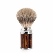 Muhle 3 piece Shaving Set, (R108 safety Razor, RHM SR Set, 091M108 Badger Brush) Tortoise Shell