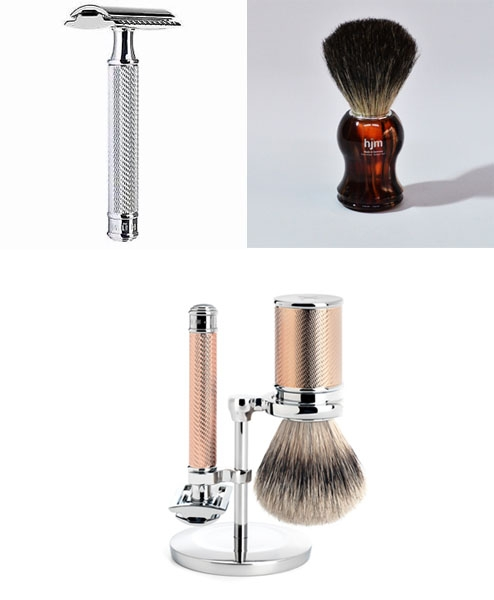Razors, Brushes & Stands